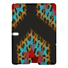 Blue, Gold, and Red Pattern Samsung Galaxy Tab S (10.5 ) Hardshell Case