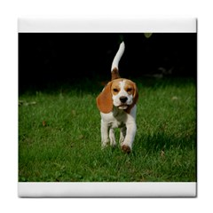Beagle Walking Tile Coasters
