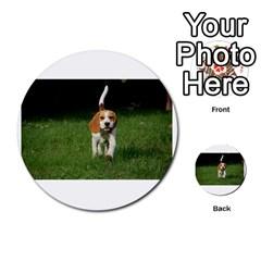Beagle Walking Multi-purpose Cards (Round)