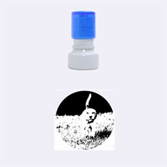 Beagle Walking Rubber Round Stamps (Small)