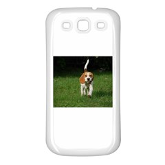 Beagle Walking Samsung Galaxy S3 Back Case (White)