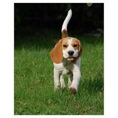 Beagle Walking Drawstring Bag (Small)