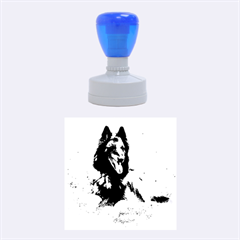 Belgian Tervuren Laying Rubber Round Stamps (Medium)
