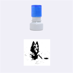 Belgian Tervuren Laying Rubber Round Stamps (Small)