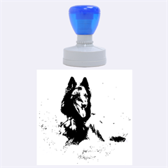 Belgian Tervuren Laying Rubber Round Stamps (Large)