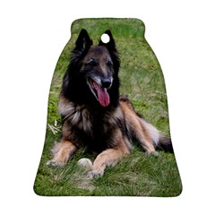 Belgian Tervuren Laying Bell Ornament (2 Sides)