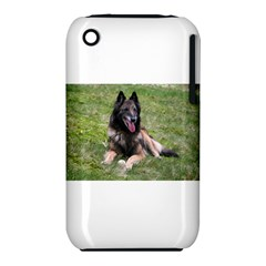 Belgian Tervuren Laying Apple iPhone 3G/3GS Hardshell Case (PC+Silicone)