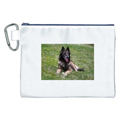 Belgian Tervuren Laying Canvas Cosmetic Bag (XXL)