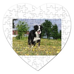 Border Collie Full 3 Jigsaw Puzzle (Heart)