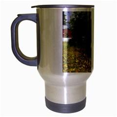 Border Collie Full 3 Travel Mug (Silver Gray)