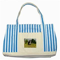Border Collie Full 3 Striped Blue Tote Bag