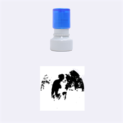 Border Collie Full 3 Rubber Round Stamps (Small)