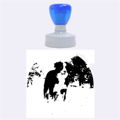 Border Collie Full 3 Rubber Round Stamps (Large)