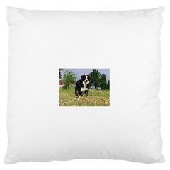 Border Collie Full 3 Large Flano Cushion Cases (Two Sides)