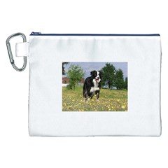 Border Collie Full 3 Canvas Cosmetic Bag (XXL)