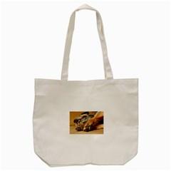 Border Terrier Sleeping Tote Bag (Cream)