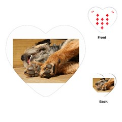 Border Terrier Sleeping Playing Cards (Heart)