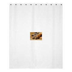 Border Terrier Sleeping Shower Curtain 60  x 72  (Medium)