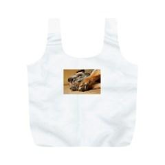 Border Terrier Sleeping Full Print Recycle Bags (M)