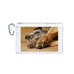 Border Terrier Sleeping Canvas Cosmetic Bag (S)