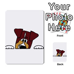 Red Tri Peeping  Aussie Dog Multi-purpose Cards (Rectangle)