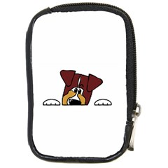 Red Tri Peeping  Aussie Dog Compact Camera Cases