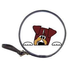 Red Tri Peeping  Aussie Dog Classic 20-CD Wallets
