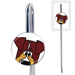 Red Tri Peeping  Aussie Dog Book Mark