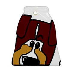 Red Tri Peeping  Aussie Dog Bell Ornament (2 Sides)