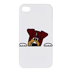 Red Tri Peeping  Aussie Dog Apple iPhone 4/4S Hardshell Case
