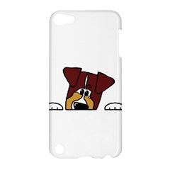 Red Tri Peeping  Aussie Dog Apple iPod Touch 5 Hardshell Case