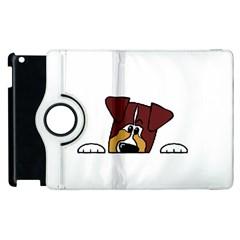 Red Tri Peeping  Aussie Dog Apple iPad 3/4 Flip 360 Case