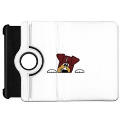 Red Tri Peeping  Aussie Dog Kindle Fire HD Flip 360 Case