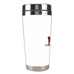 Red Tri Peeping  Aussie Dog Stainless Steel Travel Tumblers