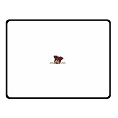 Red Tri Peeping  Aussie Dog Double Sided Fleece Blanket (Small)