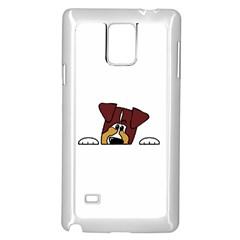 Red Tri Peeping  Aussie Dog Samsung Galaxy Note 4 Case (White)