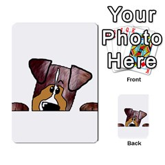 Red Merle Peeking  Aussie Multi-purpose Cards (Rectangle)