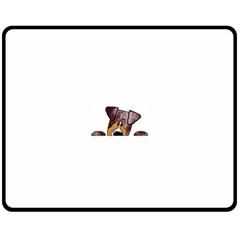 Red Merle Peeking  Aussie Fleece Blanket (Medium)