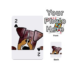 Red Merle Peeking  Aussie Playing Cards 54 (Mini)