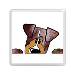 Red Merle Peeking  Aussie Memory Card Reader (Square)