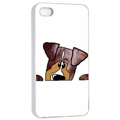 Red Merle Peeking  Aussie Apple iPhone 4/4s Seamless Case (White)