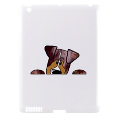 Red Merle Peeking  Aussie Apple iPad 3/4 Hardshell Case (Compatible with Smart Cover)
