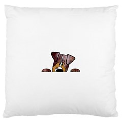 Red Merle Peeking  Aussie Large Cushion Cases (Two Sides)