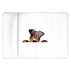 Red Merle Peeking  Aussie Samsung Galaxy Tab 10.1  P7500 Flip Case