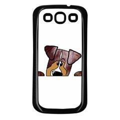 Red Merle Peeking  Aussie Samsung Galaxy S3 Back Case (Black)