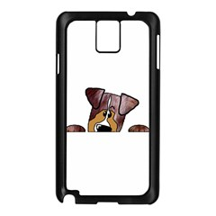 Red Merle Peeking  Aussie Samsung Galaxy Note 3 N9005 Case (Black)