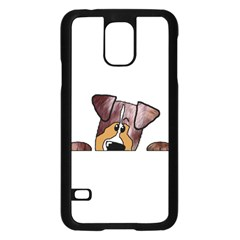 Red Merle Peeking  Aussie Samsung Galaxy S5 Case (Black)