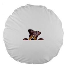 Red Merle Peeking  Aussie Large 18  Premium Flano Round Cushions