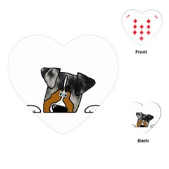 Blue Merle Peeking Aussie Playing Cards (Heart)