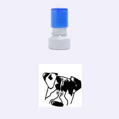 Blue Merle Peeking Aussie Rubber Round Stamps (Small)